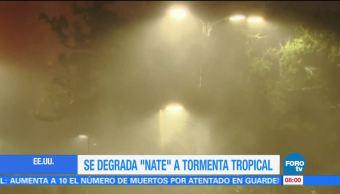 'Nate' se degrada a tormenta tropical