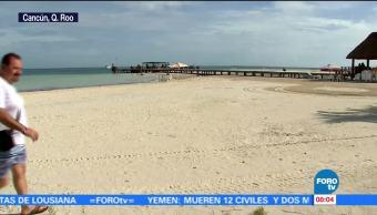 'Nate' se aleja de las costas de Quintana Roo