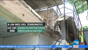 Oaxaca registra casi 7 mil réplicas a un mes del sismo del 7 de septiembre