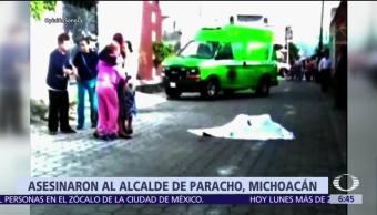 Realizan funeral del alcalde de Paracho, Stalin Sánchez