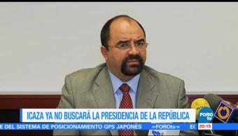Álvarez Icaza ya no buscará ser candidato independiente