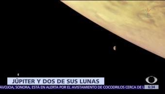 NASA difunde fotos de las lunas de Júpiter