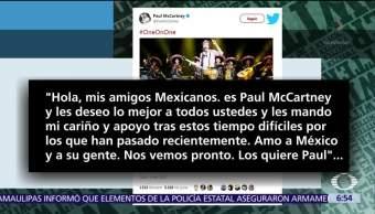 Paul McCartney envía mensaje a México por sismos de septiembre