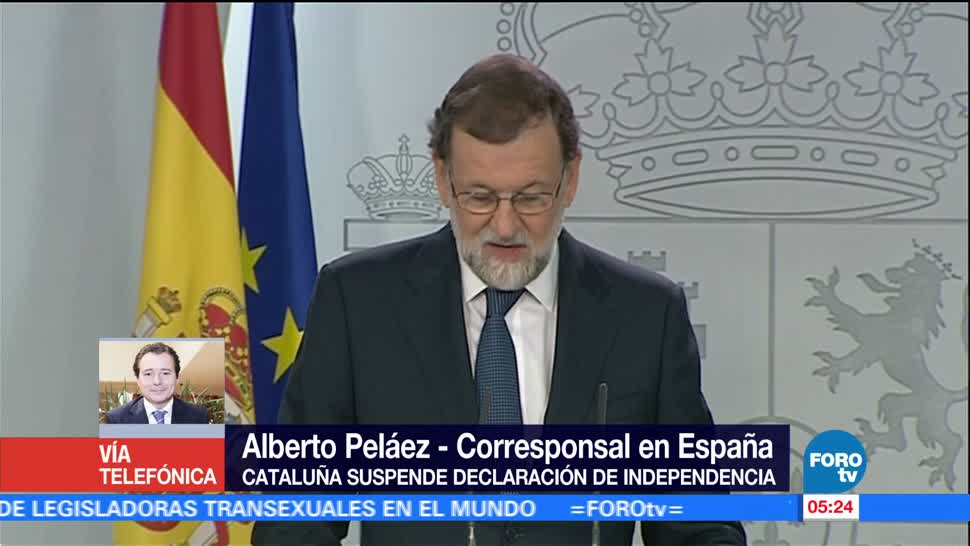 Rajoy pide a Puidgemont aclarar si declaró la independencia catalana