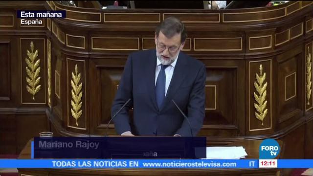 Rajoy califica de cuento de hadas independencia propuesta por Puigdemont