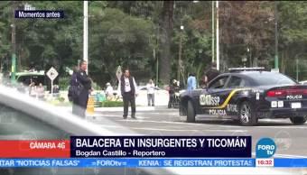 Balacera en Insurgentes y Ticoman; un muerto
