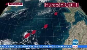 Tormenta Ofelia se convierte en huracán rumbo a PortugalTormenta Ofelia se convierte en huracán rumbo a Portugal