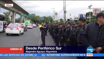 En marcha megaoperativo policiaco en sur de la CDMX