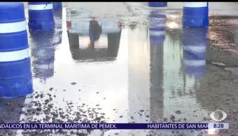 Se registra fuga de agua en Eje 5 y la Viga