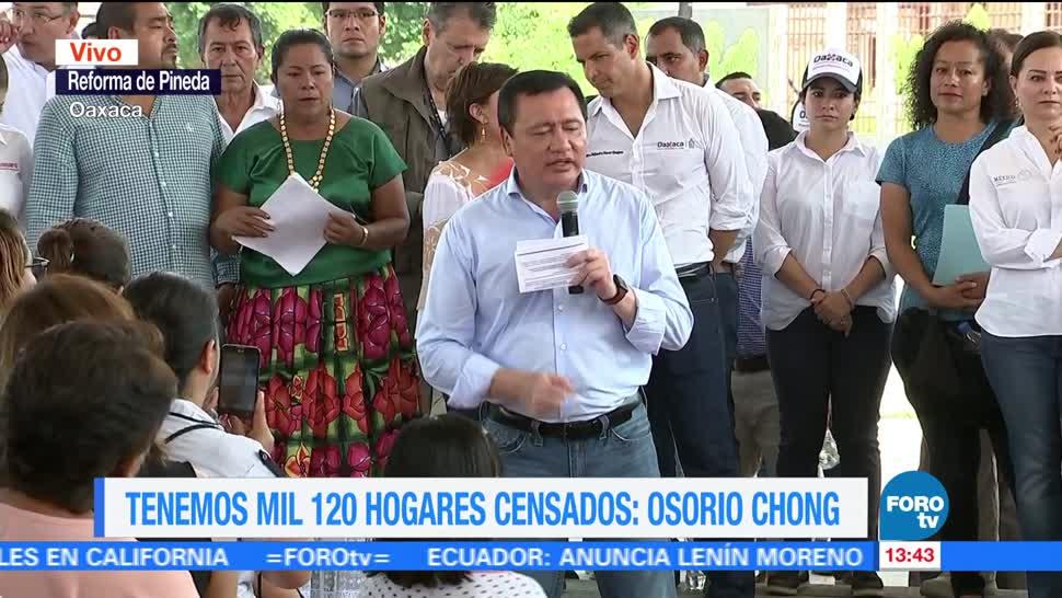 Osorio Chong encabeza entrega de apoyos a damnificados del sismo en Oaxaca