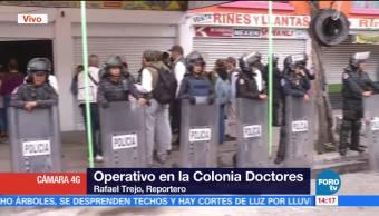 Realizan operativo contra autopartes robadas en la colonia Doctores