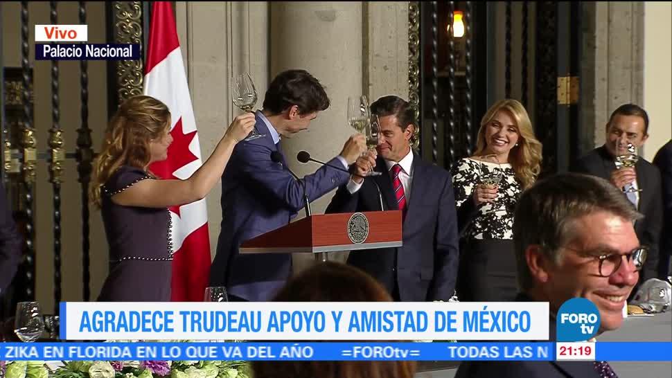 Cena en Palacio Nacional en honor a Trudeau