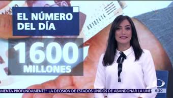 El número del día: 1, 600 millones