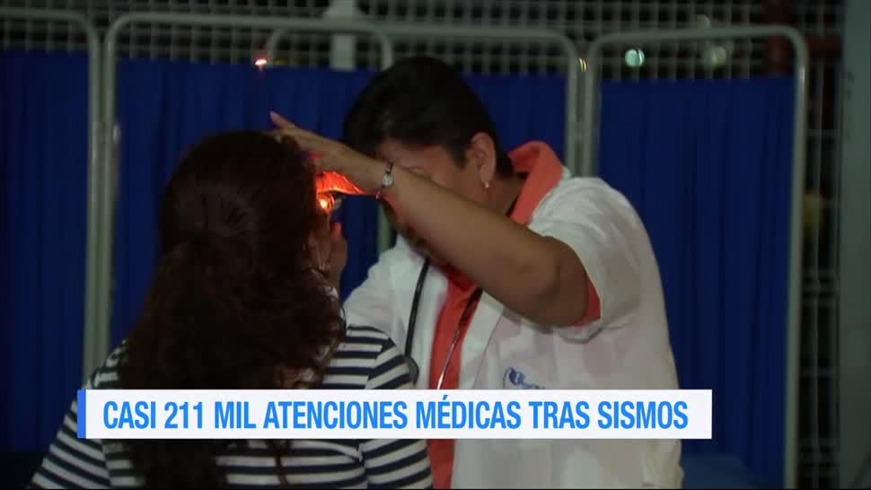 Casi 211 mil atenciones médicas tras sismos de septiembre