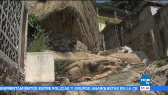 Miles de familias viven en zonas de riesgo en Guerrero