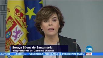 Gobierno español lamenta que Puigdemont no sea claro sobre independencia de Cataluña