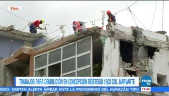 Avanza demolición en Concepción Béistegui con herramientas manuales