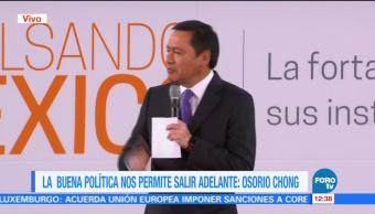 Osorio Chong afirma que la coordinación entre instituciones permite salir adelante