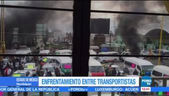 Se registra enfrentamiento entre transportistas en Nextlalpan, Edomex
