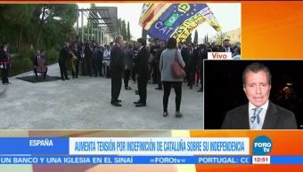 Aumenta tensión por indefinición de Cataluña sobre su independencia