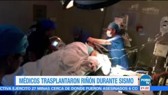 Médicos del IMSS trasplantaron riñón durante sismo
