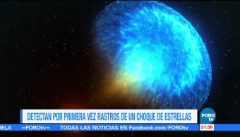 Detectan por primera vez rastros de un choque de estrellas
