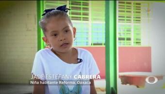 Niña que pidió ayuda para reconstruir su escuela no tiene casa