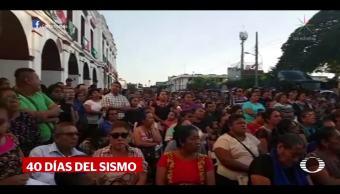 Juchitán, a 40 días del sismo