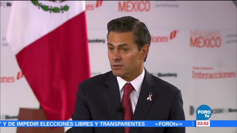 El presidente, Enrique Peña Nieto habla de corrupción