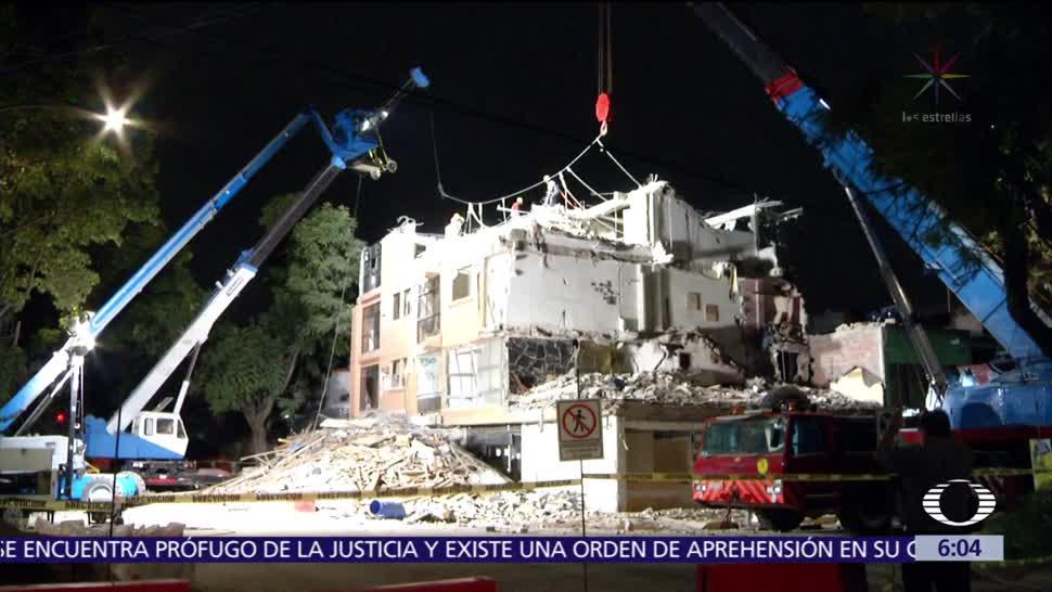 Continúa la demolición del edificio en Concepción Béistegui, CDMX