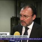 Luis Videgaray agradece al papa Francisco apoyo a México tras sismos