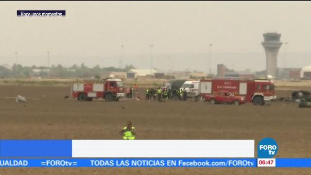 Se estrella avión militar en España; muere una persona