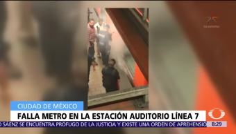 Se registra incidente en estación Auditorio del Metro CDMX