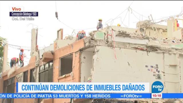 Avanza demolición de edificios afectados por sismo del 19S en CDMX