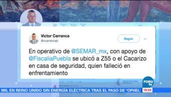Abaten a presunto líder de un grupo criminal en Puebla