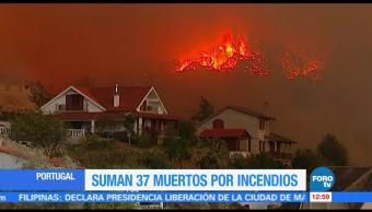 Continúan fuera de control incendios forestales en España y Portugal