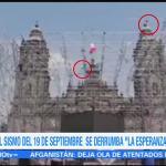 Sismo derrumbó escultura de 'La Esperanza' de la Catedral Metropolitana