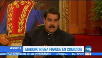 Maduro niega fraude en comicios regionales