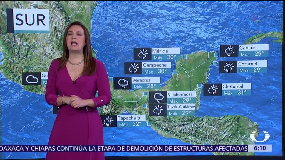 Masa de aire frío favorecerá lluvias en la mayor parte del país