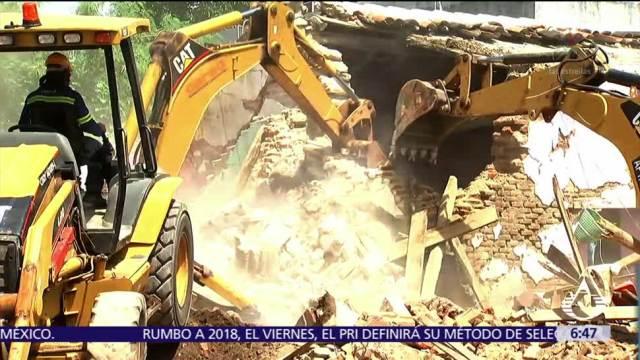 612 casas afectadas por sismos en Oaxaca han sido demolidas