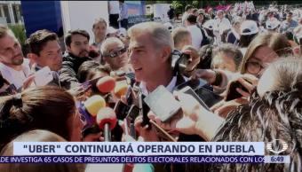 Antonio Gali aclara que Uber sigue operando en Puebla