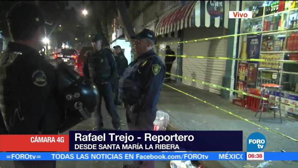 Policía capitalina mantiene operativo tras balacera en Santa María la Ribera
