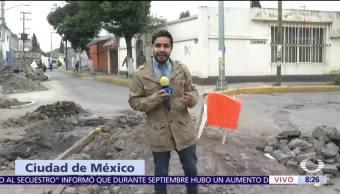 Sigue escasez de agua en San Marcos, Xochimilco, tras sismo