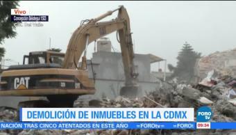Demolición de inmuebles en la CDMX