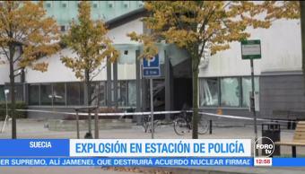 Explosión en estación de policía en Suecia