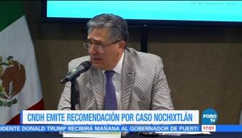 CNDH emite recomendación por caso Nochixtlán