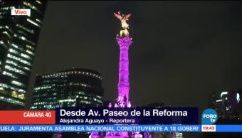 Iluminan Ángel de la Independencia lucha contra el cáncer de mama