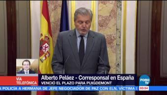 España aplicará el artículo 155 tras evasiva de Puigdemont