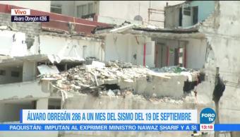 Levantan puño en memoria de víctimas del sismo en Álvaro Obregón 286