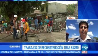 Avanza el proceso de recepción de ayuda en Guerrero tras sismo